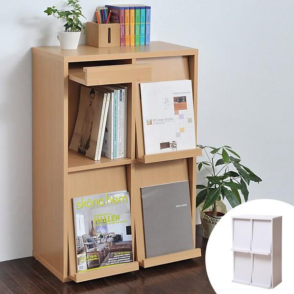 ディスプレイラック フラップ 4枚扉 幅60cm ボックスラックシリーズ ( 送料無料 本棚 書棚 ディスプレイ棚 おしゃれ 棚 ディスプレ