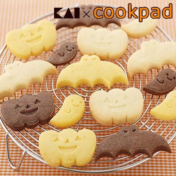 クッキー型 ハロウィン コウモリ かぼちゃ おばけ セット ( クッキー 型 抜型 クッキー抜型 一度に抜ける シリコンケーキ型 シリコン型