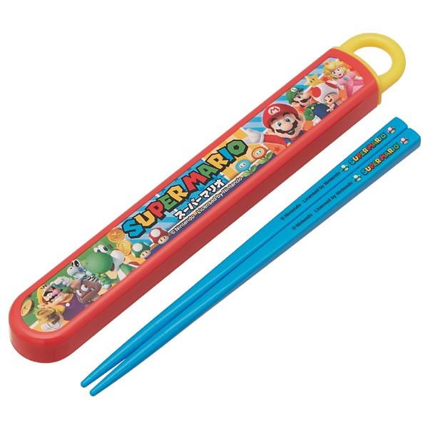 箸&箸箱セット スライド式 スーパーマリオ 食...
