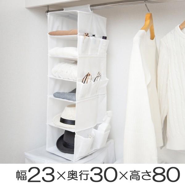 吊り下げ収納 6段 衣類 小物収納 幅23×奥行3...
