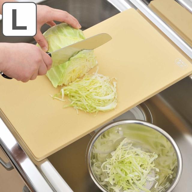 まな板 抗菌エラストマーシンクまな板 プラスチック L 日本製 ( 抗菌まな板 抗菌加工 プラスチック製 カッティングボード まないた