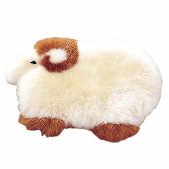 ムートン 羊型マット 約70×38cm MGH70