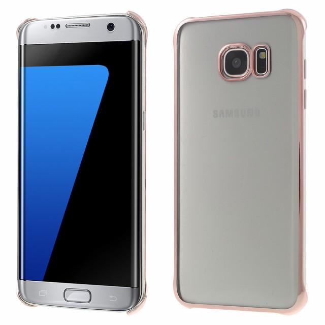 Galaxy S7 edge ハードケース ローズゴールド 液...