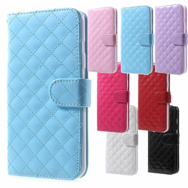 iPhone 7 Plus レザーケース ブルー 強化ガラス保...