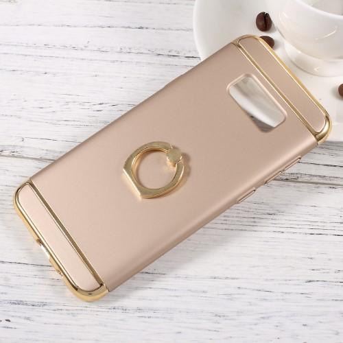 Galaxy S8 ハードケース ゴールド 強化ガラス保護...