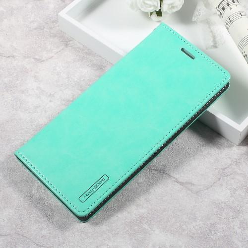 Galaxy S8 レザーケース シアン 強化ガラス保護フ...