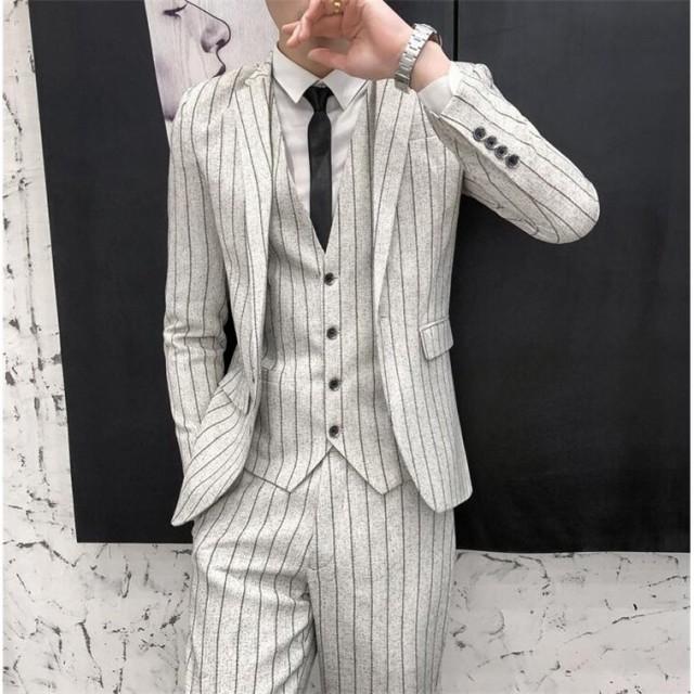ビジネススーツ メンズ スリーピーススーツ3ピー...