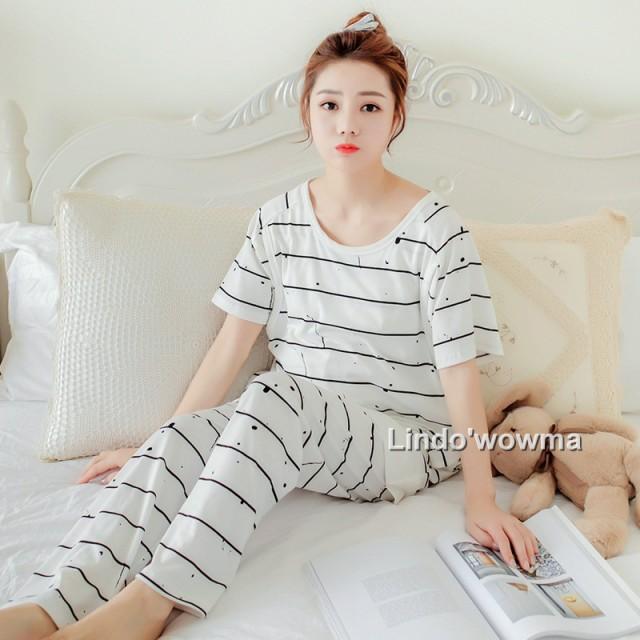 産後用授乳期用パジャマ 簡単授乳 マタニティ  授...