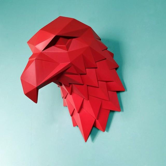 【お取り寄せ】壁掛けオブジェ ワシの頭 イーグル...