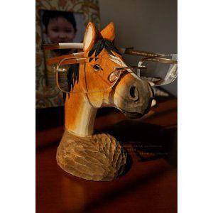 めがねスタンド 木製 馬 木彫 ハンドメイド