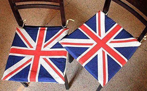 イス用座布団 ユニオンジャック イギリス国旗 2枚...