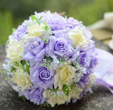 【お取り寄せ】造花 バラ ブーケ 直径25cm (パー...
