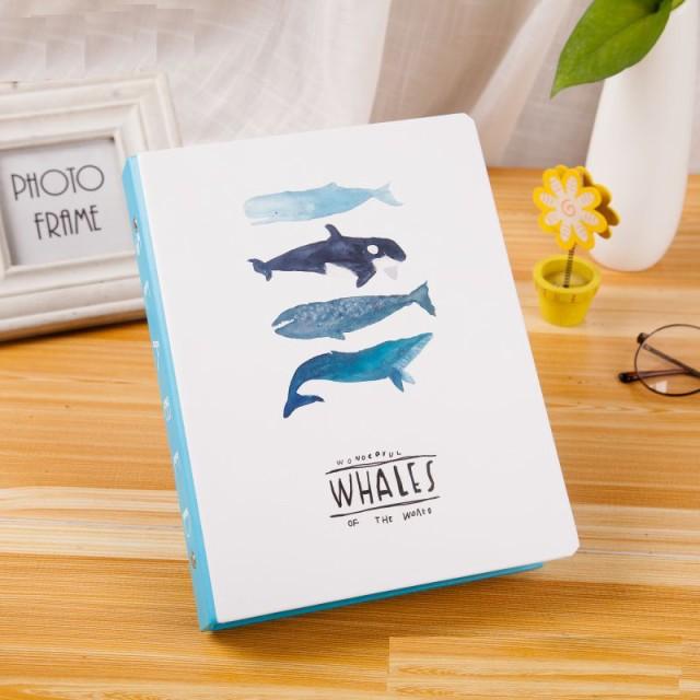 お取り寄せノート ルーズリーフ バインダー クジラのイラスト マリン風