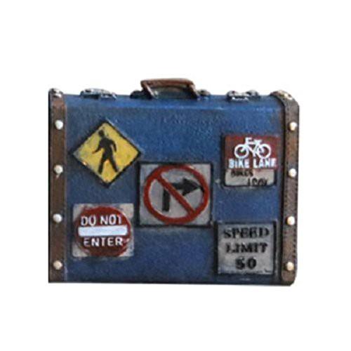 e0cb465a6a 【お取り寄せ】オブジェ 貯金箱 ビンテージ風 レトロなトランクケース 旅行バッグ型