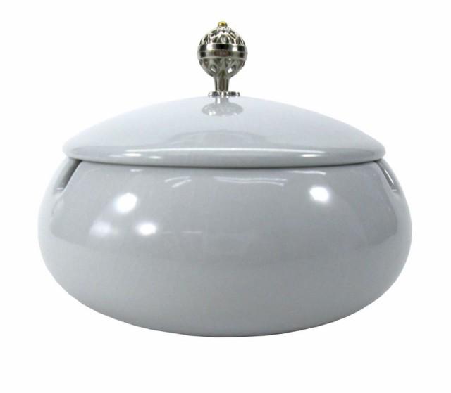 灰皿 純和風 和モダン 美しい取っ手の蓋付き 陶器...