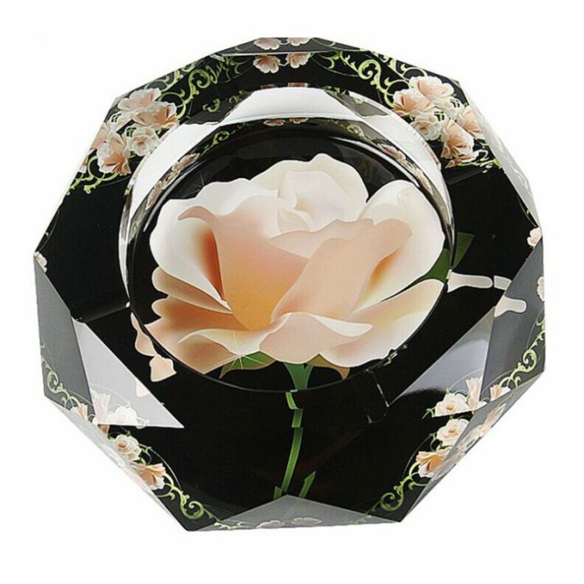 【お取り寄せ】灰皿 ピンクの薔薇 美しいデザイン...
