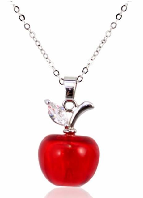 【お取り寄せ】ネックレス ガラスのりんごモチー...