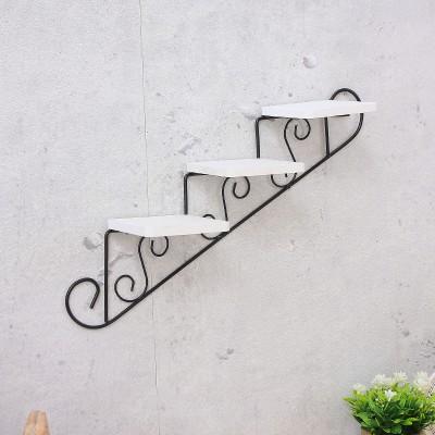 【お取り寄せ】飾り棚 壁掛け 小さな階段風 ナチ...