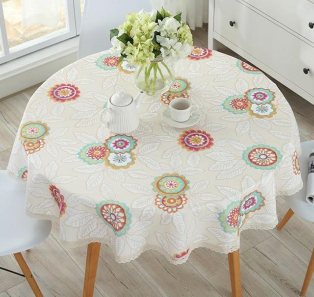 テーブルクロス シックでキュートな花模様 北欧風...