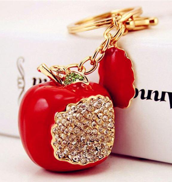 【お取り寄せ】キーホルダー かじりかけのリンゴ ...