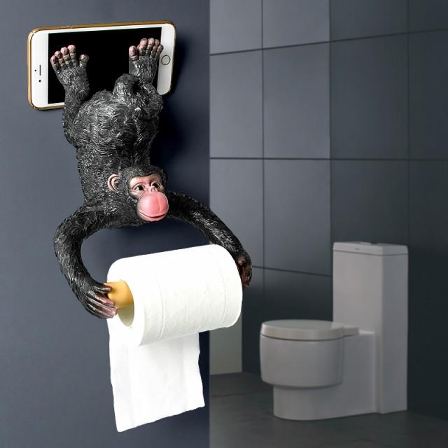 トイレットペーパーホルダー おちゃめなチンパン...