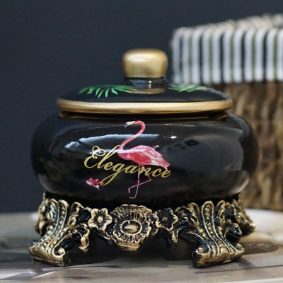 【お取り寄せ】灰皿 フラミンゴ トロピカル 台座 ...