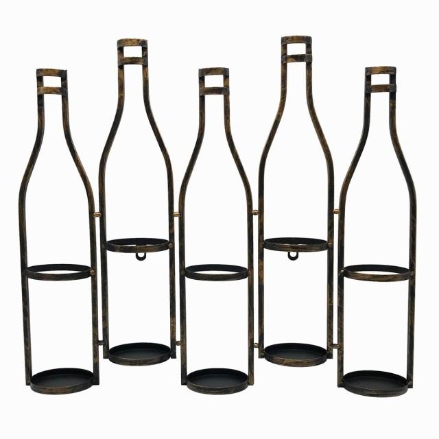 ワインボトルホルダー 壁掛け用 ボトルモチーフ ...