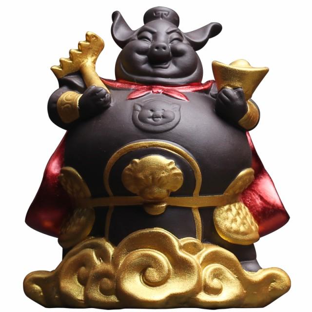 置物 茶寵 茶玩 中国茶道具 金色の筋斗雲に乗るブ...