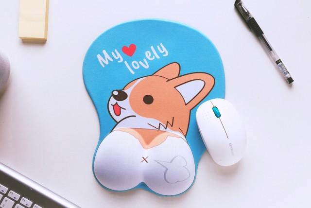 マウスパッド かわいいコーギー 犬 立体的 おしり...