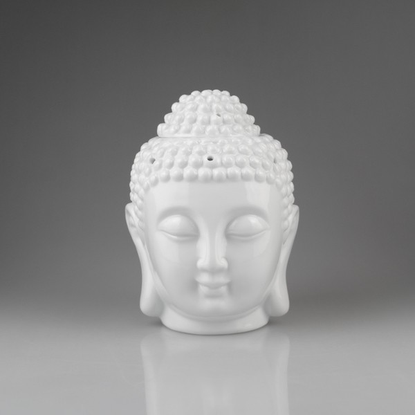 アロマポット 陶器 キャンドル タイ風 仏像の顔 ...