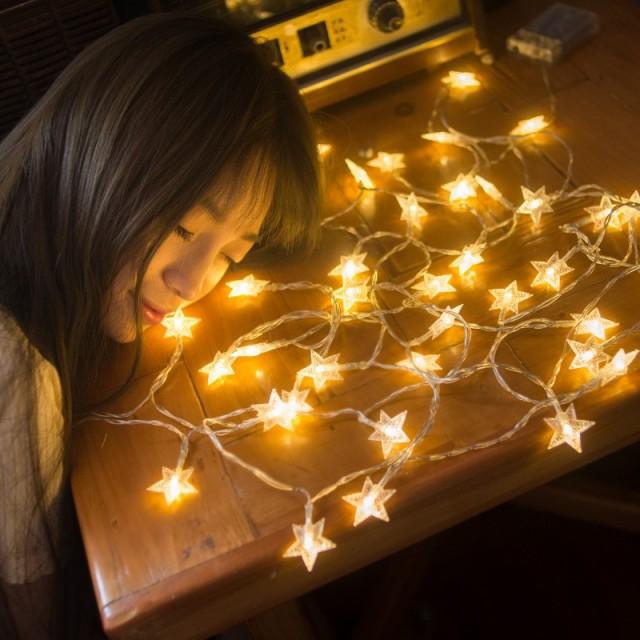 デコレーションライト LED 電球 星のオーナメント...