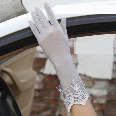 【お取り寄せ】手袋 エレガント バラ柄のレース ...