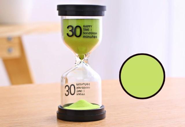 【お取り寄せ】砂時計 30分計 ビタミンカラー 黒...