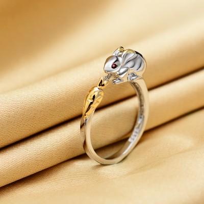 指輪 リング 動物モチーフ オープンタイプ (ウサ...