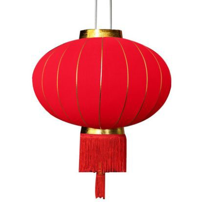 室内装飾 提灯 ゴールドのライン入り 中国風 布製...