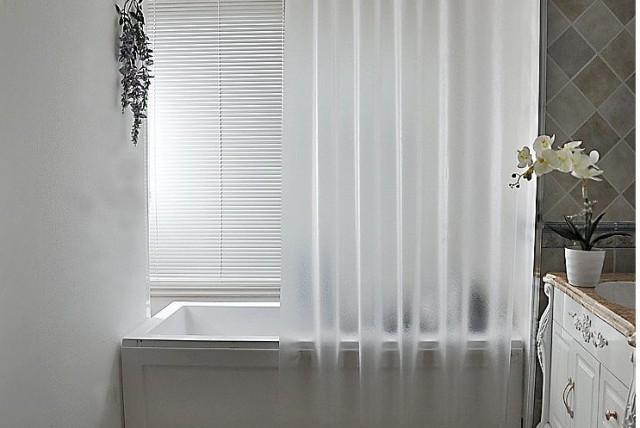 シャワーカーテン すりガラス風 半透明 シースル...