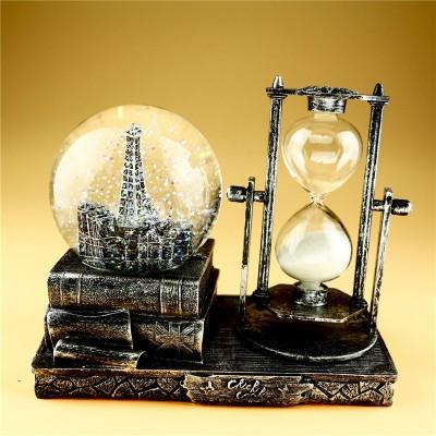 【お取り寄せ】置物 砂時計&エッフェル塔のスノ...