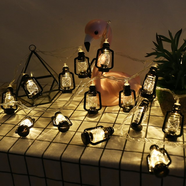 デコレーションライト LED レトロなランタンモチ...