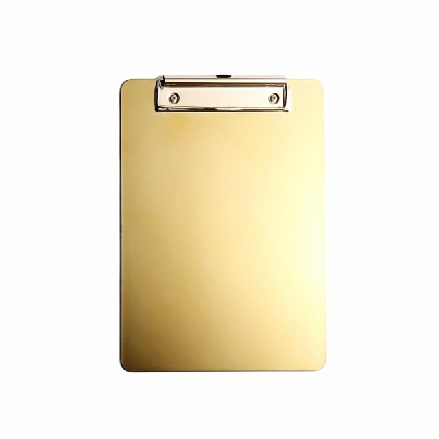 【お取り寄せ】クリップボード ゴールドカラー ス...