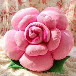 クッション 大きなバラ型 (ライトピンク)