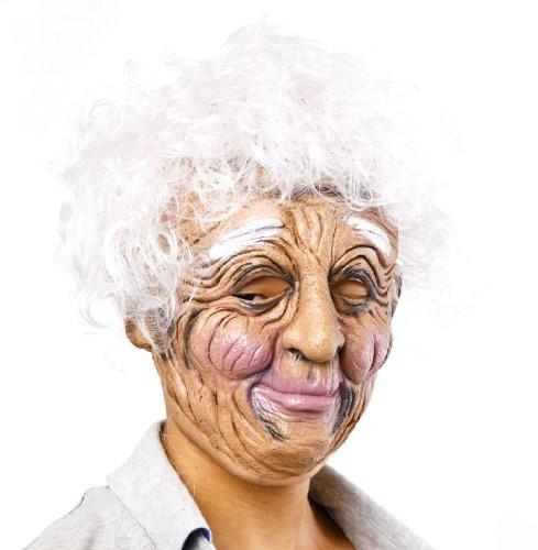 コスプレ マスク 白髪の老婆 おばあちゃん ホラー...