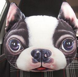 ネッククッション リアル 犬の顔 プリント ダイカ...