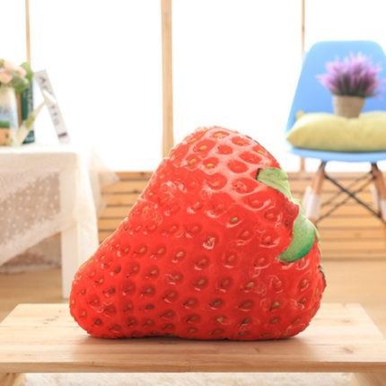 クッション リアル 食品 果物 フルーツ (イチゴ)