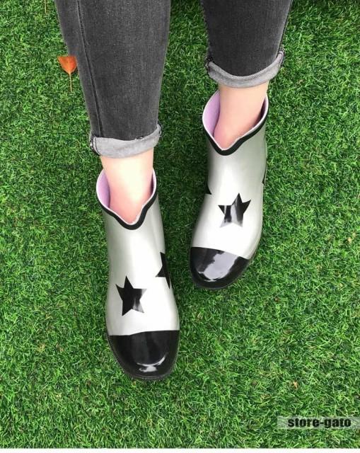 レインブーツ ショート レディース 完全防水 雨靴...