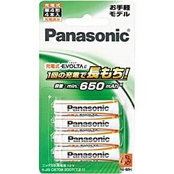 Panasonic [BK-4LLB/4B] 充電式エボルタ 単4形 4...