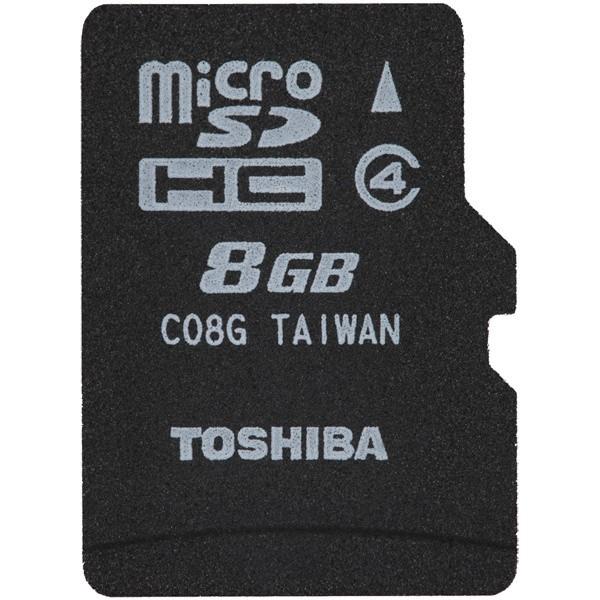 東芝 [SD-ME008GS] class4 microSDHCカード 8GB
