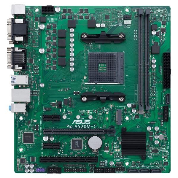 ASUS TeK [PRO/A520M-C/CSM] AMD A520チップセッ...