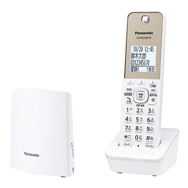 Panasonic [VE-GDL45DL-W] コードレス電話機(子機...