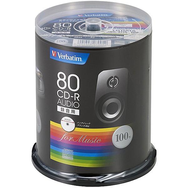 三菱ケミカルメディア [MUR80FP100SV1] CD-R (Aud...