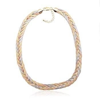Spinningdaisy Tri Color Gold Braided Herringbo...